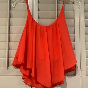 Adorable Coral Flowy Top
